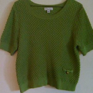 Kim Rogers Spring Crochet Crop Top.Size PL